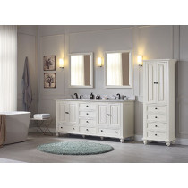 Avanity Thompson (double) 73-Inch French White Vanity Cabinet & Optional Countertops