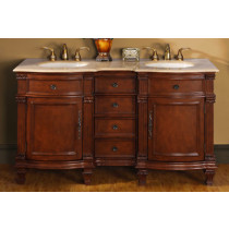 "Tybalt (double) 60"" Inch Traditional Bath Vanity"