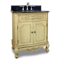 Hardware Resources Clairemont (single) 30.5-Inch Buttercream Traditional Bathroom Vanity