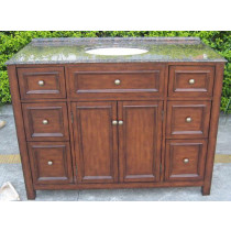 Lockhart (single) 48-Inch Walnut Traditional Bathroom Vanity