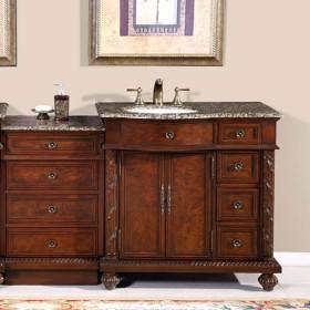 Pearce (single) 55.5-Inch Modular Bathroom Vanity With Countertop Options
