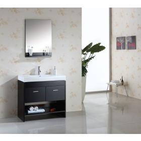 Virtu USA Gloria (single) 35.4-Inch Espresso Modern Bathroom Vanity Set