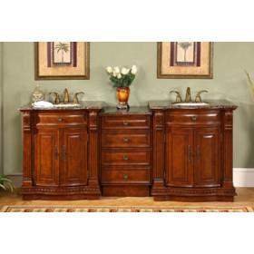 Amaretto (double) 84.5-Inch Antique Traditional Modular Bathroom Vanity