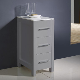 Fresca Torino 12-Inch Gray Bathroom Linen Side Cabinet