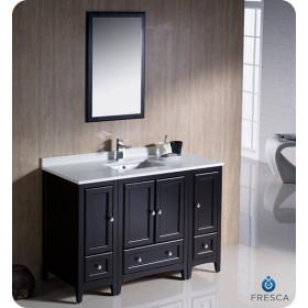 Fresca Oxford (single) 48-Inch Espresso Transitional Modular Bathroom Vanity Set