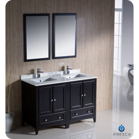 Fresca Oxford (double) 48-Inch Espresso Transitional Bathroom Vanity Set