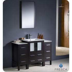 Fresca Torino (single) 48-Inch Espresso Modern Bathroom Vanity with Integrated Sink