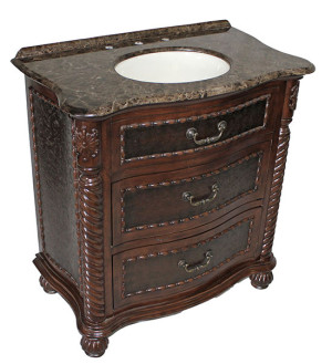 Lymon (single) 32-Inch Antique Brown Bathroom Vanity