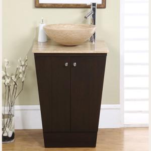 Beck (single) 22-Inch Espresso Pedestal Bathroom Vanity