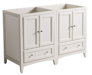 Fresca Oxford (double) 47.25-Inch Antique White Transitional Modular Bathroom Vanity - Cabinet Only