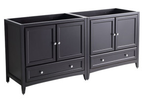 Fresca Oxford (double) 70.75-Inch Espresso Transitional Modular Bathroom Vanity (Model 2) - Cabinet Only