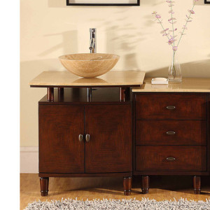 Allendale And Side Cabinet (single) 46.5-Inch Contemporary Bathroom Vanity Set