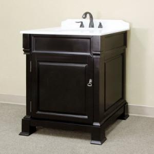 Harlow (single) 30-inch Espresso Traditional Bathroom Vanity With Mirror Option