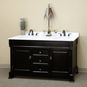 Harlow (double) 60-inch Espresso Traditional Bathroom Vanity With Mirror Option