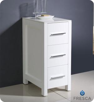 Fresca Torino 12-Inch White Bathroom Linen Side Cabinet