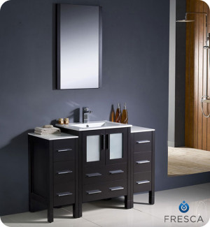 Fresca Torino (single) 48-Inch Espresso Modern Bathroom Vanity with Integrated Sink