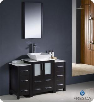 Fresca Torino (single) 48-Inch Espresso Modern Bathroom Vanity with Vessel Sink