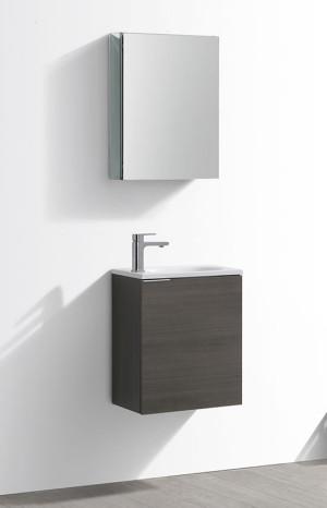 Fresca Valencia (single) 19.7-Inch Gray Oak Modern Wall-Mount Bathroom Vanity Set