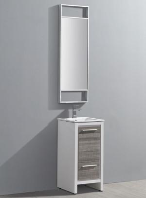 Fresca Allier Rio (single) 15.75-Inch Ash Gray Modern Bathroom Vanity Set