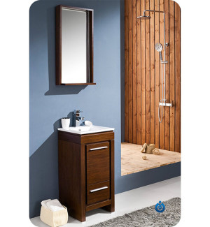 Fresca Allier (single) 15.75-Inch Wenge Brown Modern Bathroom Vanity Set
