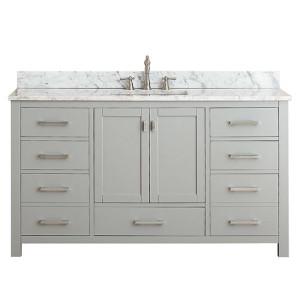 Carrara White Marble Top