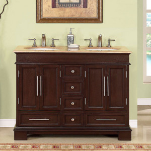 Petruchio (double) 48-Inch Transitional Bathroom Vanity