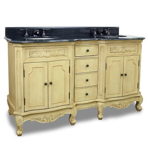 Hardware Resources Clairemont (double) 60.9-Inch Buttercream Traditional Bathroom Vanity