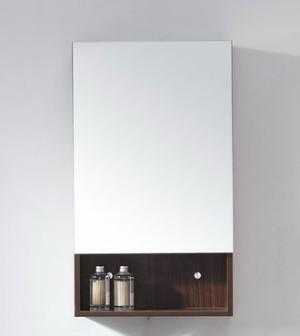Navi (single) 17.8-Inch Brown Modern Mirror & Medicine Cabinet