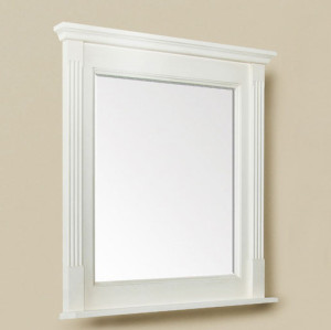 Courtney (single) 30-Inch Antique White Transitional Mirror