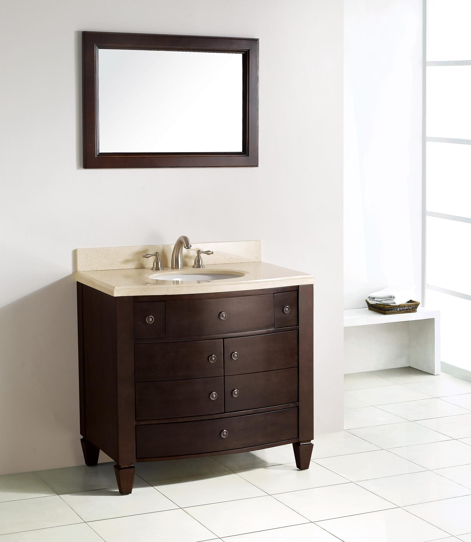 Single Bathroom Vanities from 36 to 48-Inches Wide