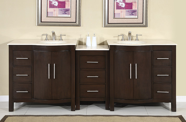 higgins double 89 inch transitional bathroom vanity dark walnut rh bathvanityexperts com bathroom vanities on sale ontario bathroom vanities on sale toronto