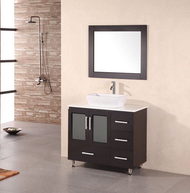 Etonnant Design Element Stanton [Vessel] (single) 36 Inch Modern Bathroom Vanity Set    Espresso
